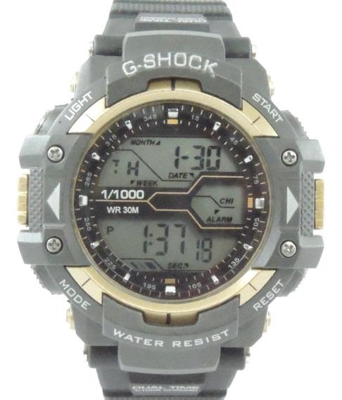 Relógio Masculino 8338g Digital Cronometro Calendário Alarme E Luz Esporte Fitness Shock