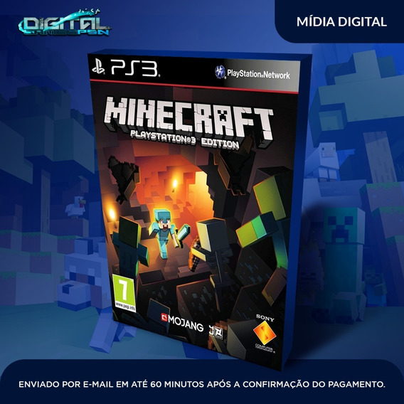 Minecraft Ps3 Psn Midia Digital Envio Hj!