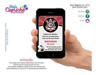 Convite Futebol Corinthians - Arte Digital Para Whatsapp