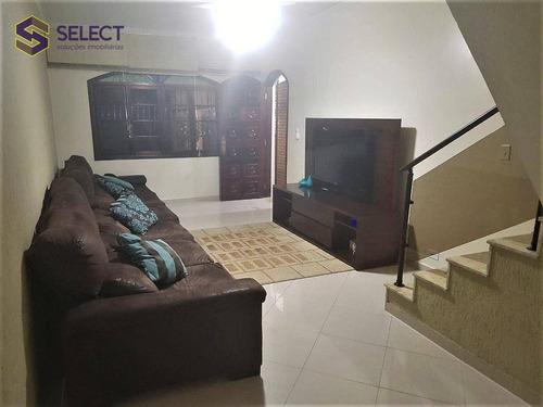 Sobrado Com 3 Dormitórios À Venda, 235 M² Por R$ 669.000,00 - Centro - Diadema/sp - So0043