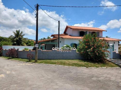 Casa Com 3 Dormitórios À Venda, 300 M² Por R$ 850.000,00 - Ponta Grossa - Maricá/rj - Ca4603