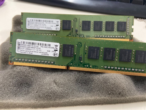 Imagem 1 de 1 de Memória Ram Pc3 8gb 2x4gb Smart Sh564128fh8n6tnfqg