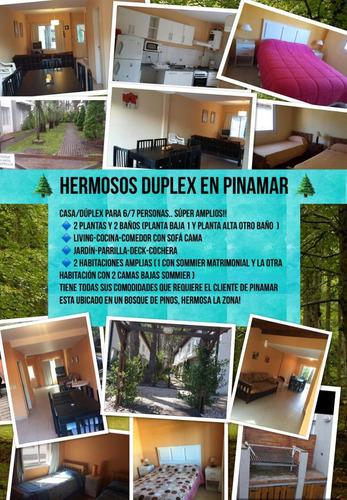 Duplex/casa Pinamar Calle Jason Alquiler