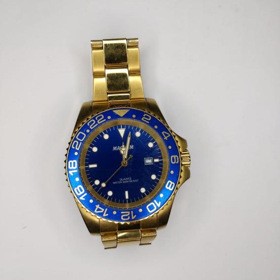 Relógio Masculino Magnum Automatic 21 Jewels Ma33844a Dourad