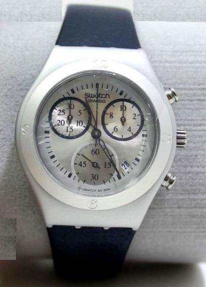 Relogio Suíço Swatch Feminino Irony Chrono 200 Aluminio