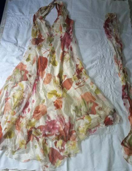 Vestido Seda Irregular Portsaid Night T. 48 Xl