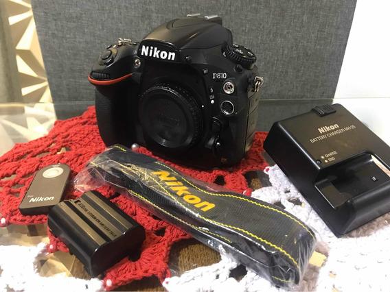 Nikon D810 Corpo Com Acessórios +bateria Extra + Cartão Sd