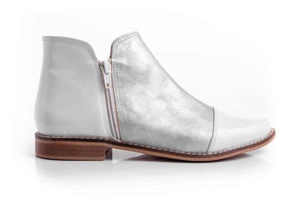 Botas Zapatos Mujer Cuero Pu Bajas Liviana Cómodas Moda