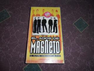 Magneto El Adios De Magneto Vhs Original Buenas Condiciones
