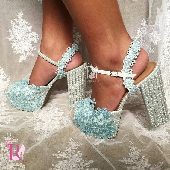 Sandália De Noiva / Casamento Tiffany (customizado)