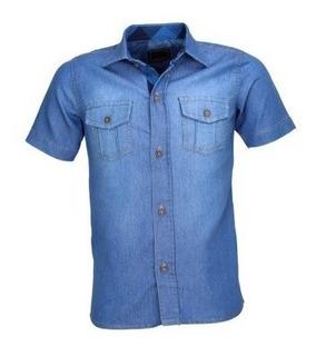 Camisa Infantil Alfa 175 Menino Luxo Jeans 2 Bolsos Cor 1