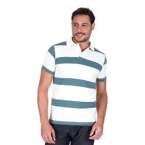 332d2c8dab Camisa Polo Colombo Masculina Upper Azul Listrada 21961