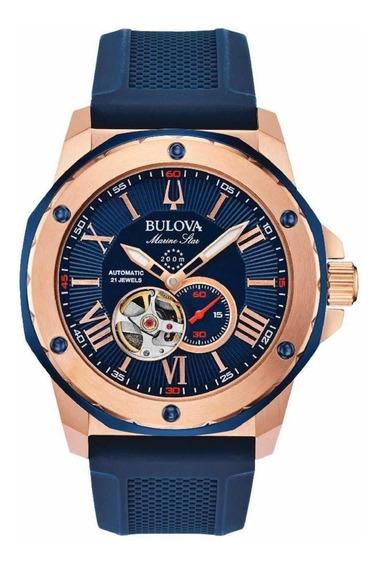 Relógio Bulova Marine Star Automático 98a227 Novo Original