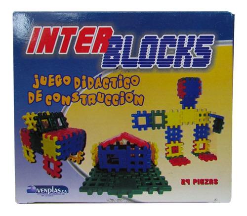 Interblocks Juego Didactico De Construcción 24 Piezas