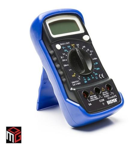 Imagen 1 de 5 de Tester Digital Multimetro Bremen Con Test De Temperatura Cod. 6692 Dgm