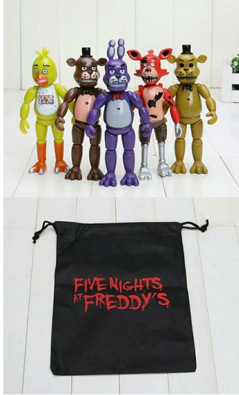 Bonecos Five Nights At Freddy´s Com Led + Bolsa Five Night