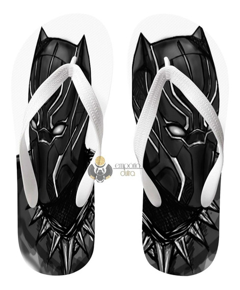 Chinelo Black Panther Pantera Negra Marvel Super Heroi