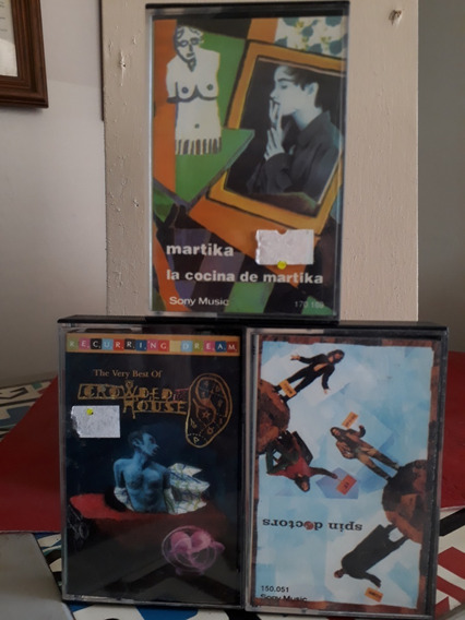 Lote 3 Cassettes*spin Doctors-martika-crowded House