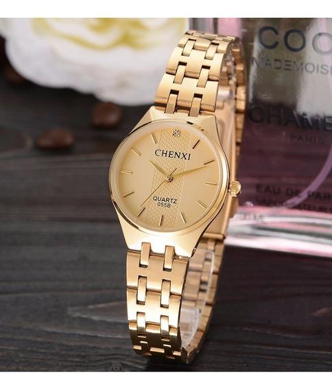 Relógio De Pulso Chenxi Feminino Marca De Luxo Dos Famosos!