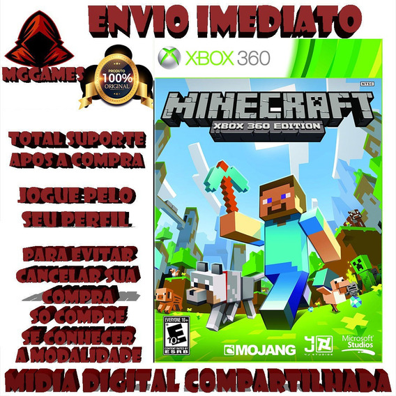 Minecraft® Xbox 360 - Midia Digital Compartilhada