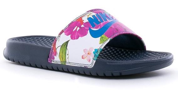 Ojotas Nike Benassi Jdi Print Midnight Navy Cobalt -mujer
