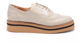 Zapatos Mujer Abotinados Cordones Plataforma Nuevos Comodos