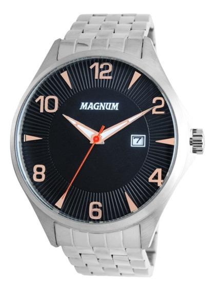 Relógio Masculino Prata Ma33291t + Nf + Promoção Barato