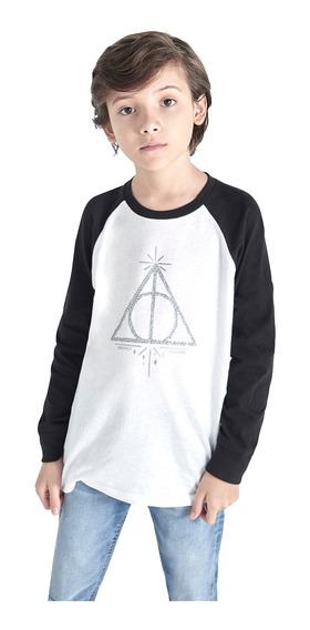 Playera Manga Larga Harry Potter De Niño C&a (mod 3002358)
