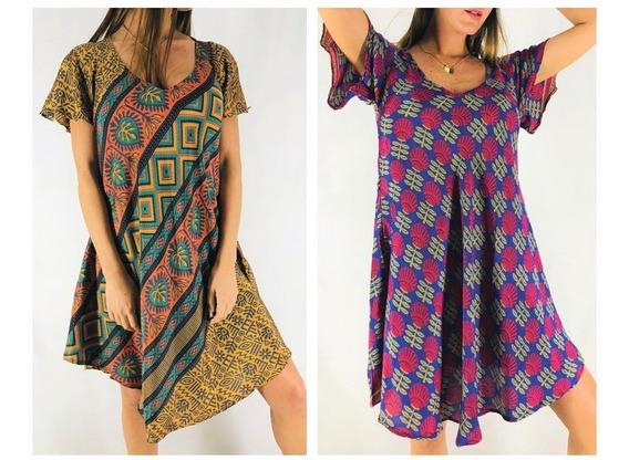 Vestido Solero Seda Hindú Importado India