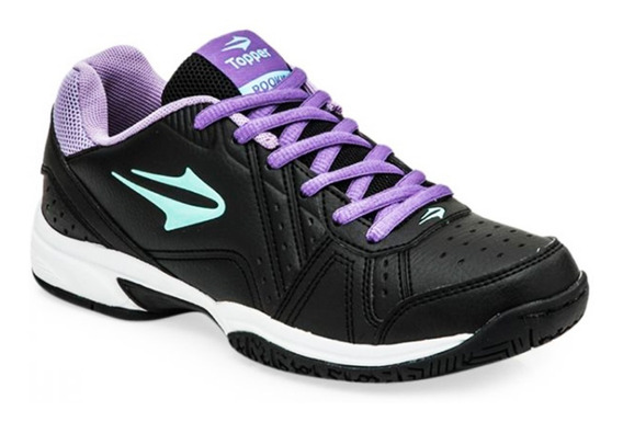 Zapatillas Topper Rookie Mujer Tenis Urbana Negra Original