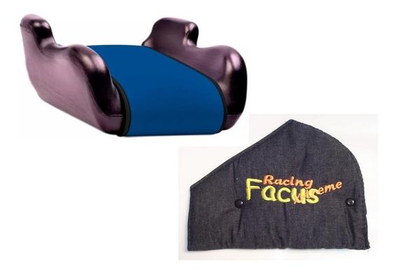 Butaca Booster + Adaptador Cinturon Seguridad Auto Niños