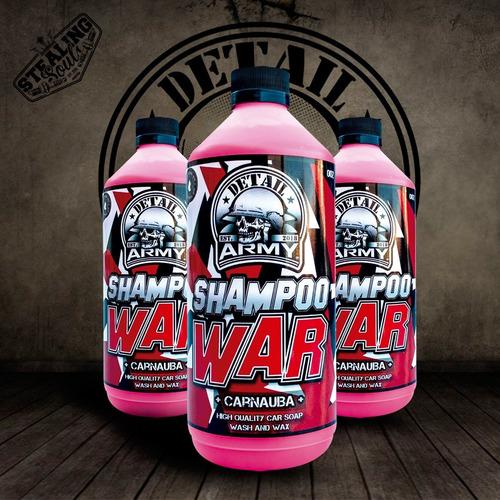 Detail Army® - 002   Shampoo War   Con Cera Carnauba   550cc   Detailing
