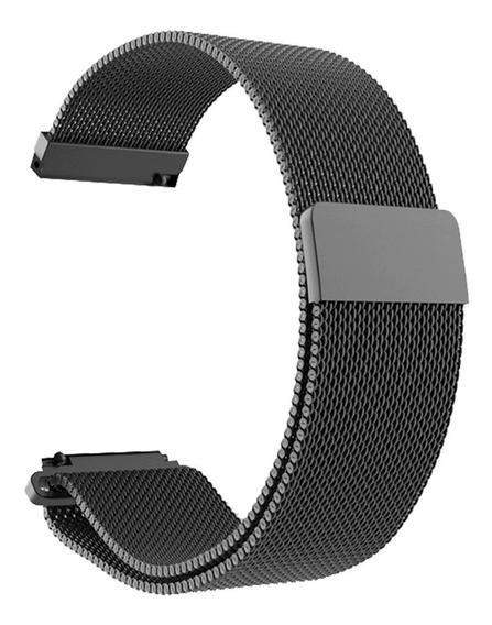 Pulseira Aço Milanese P/ Smartwatch Garmin Vivoactive 3 Vivomove Hr (20mm)