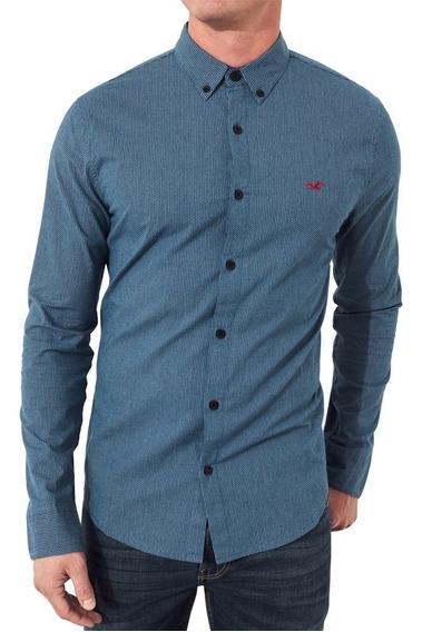 Camisa Social Masculina Hollister Original Importada M P14