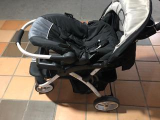 Coche Para Bebé 4 En 1 Con Cubre Piés Rodano (negro)