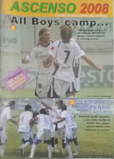 Ascenso 2008 N°572.posters All Boys,laferrere Y Excursio