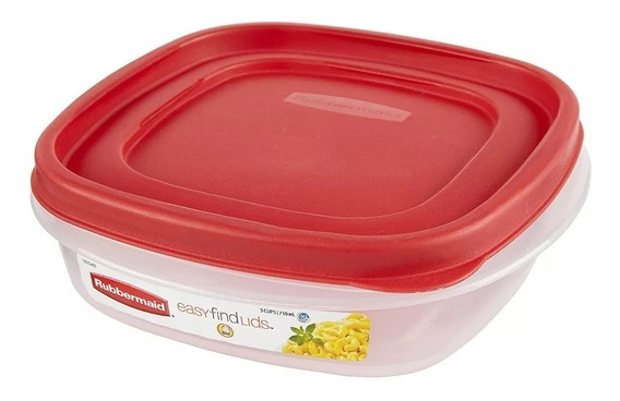 Contenedor Rubbermaid Easy Find Lids 710 Ml Original Usa
