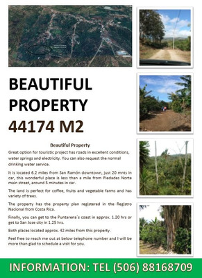 Hermosa Propiedad 44174 M2 / Beautiful Property 44174 M2