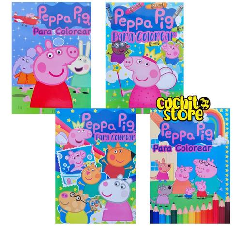 Pack 4 Libros Peppa Pig Para Colorear Pintar