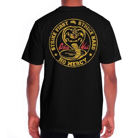 Camiseta Cobra Kai Camisa Masculina Série Karatê Kid