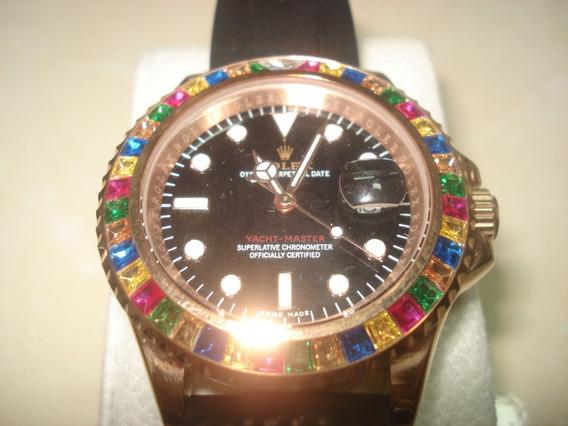 Reloj Nuevo Rolex Yacht Master Maluma Caballero Swarovscky