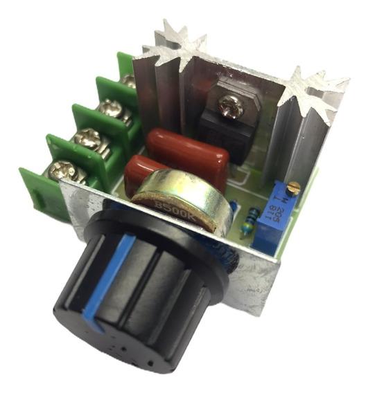 Regulador Voltaje Pwm 220v Ac 2000w 25a Dimmer Scr Variador