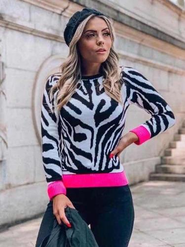 f093dc38898 Blusa Animal Print - Calçados, Roupas e Bolsas Rosa-chiclete em São ...