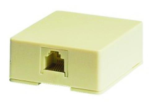 Cajetin Telefónico Superficial Rj-11  ( Ta-204 )