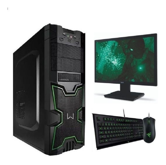 Pc Completo Barato Core I3-9100f 4gb Wifi + 15 Jogos