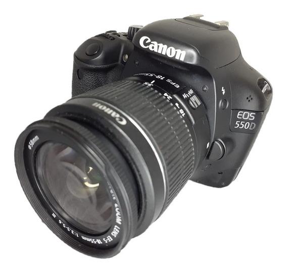 Camera Canon T2i 550d + Lente 18-55 Seminova Impecável