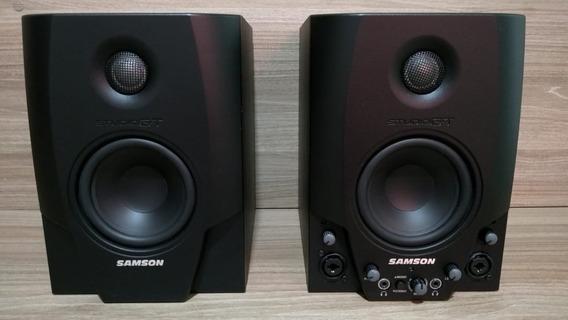 Monitor Referencia Ativo 40w - Interface Áudio Usb Samson Gt