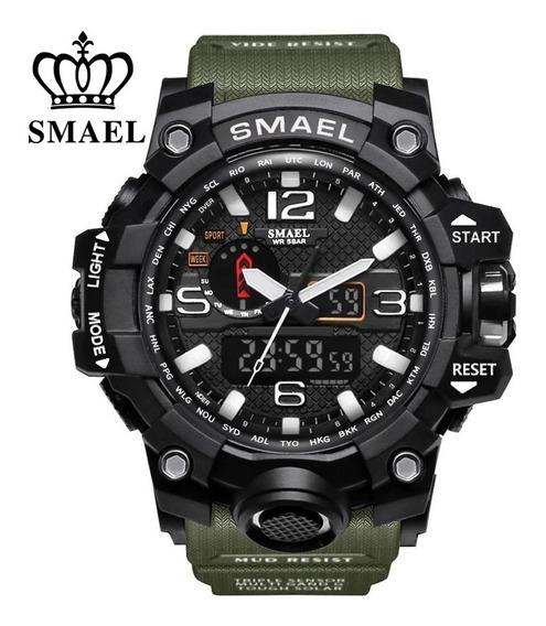 Relógio Smael 1545 Esportivo Shock Tático Militar Original