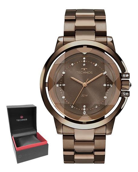Relógio Technos Feminino Swarovski Garantia Nf 2036mlm/4m