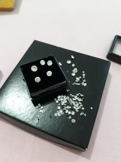 Brincos Solitários Ouro 18k Diamantes 40 Pontos